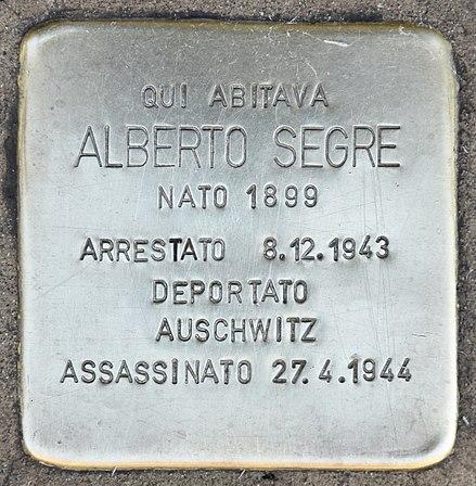 440px-Stolperstein_für_Alberto_Segre_(Milano)