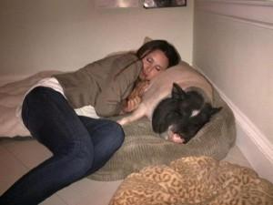 Georgina Bloomberg e il suo maiale