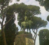 Il monumento equestre a Umberto I a Villa Borghese, Roma - copyright Md'A