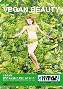 Loredana Cannata testimonial di Vegan Beauty, campagna di Animalisti Italiani onlus per promuovere la cultura vegan