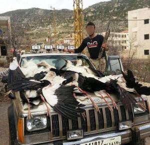 Follie di caccia senza precedenti in Libano