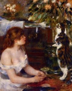 Fanciulla e gatto - Pierre-Auguste Renoir