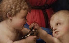 Particolare dalla Madonna del Cardellino di Raffaello Sanzio