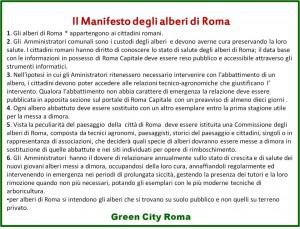 Il Manifesto degli Alberi di Roma.