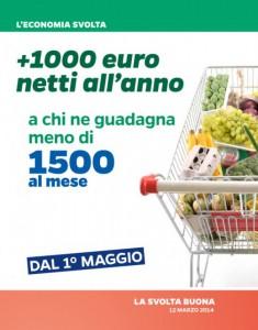 Una delle slide presentate da Renzi in conferenza stampa a Palazzo Chigi