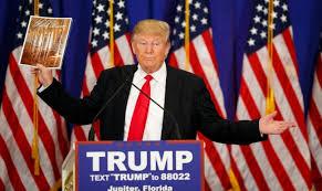 Il candidato repubblicano Donald Trump alle elezioni presidenziali americane