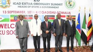 I capi di Stato dell'IGAD riuniti a Mogadiscio