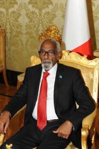Lo Speaker del Parlamento somalo Mohamed Osman Jawari