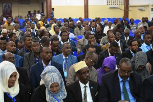I parlamentari somali in assemblea