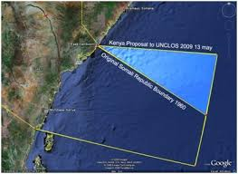 Schema del contenzioso marittimo tra Somalia e Kenya - Nigrizia