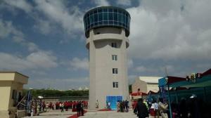 La struttura della nuova torre di controllo dell'Aeroporto Internazionale Aden Adde di Mogadiscio