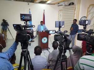 La conferenza stampa del Sindaco di Mogadiscio Ing. Abdirahman Omar Osman