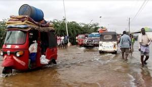 L'alluvione nella città di Beledweyne - Foto Hiiraanonline
