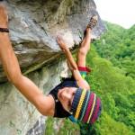 Climber in Val Gardena