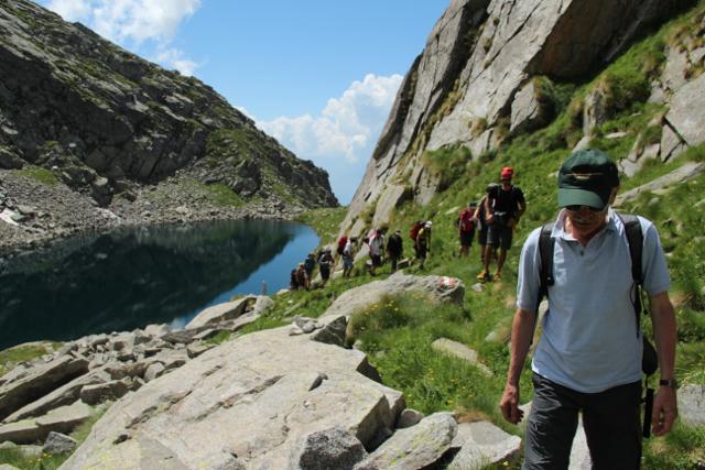 Lago montano lungo il sentiero Life Reticnet, Valtellina
