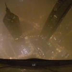 Il panorama sottostante alla Shanghai tower