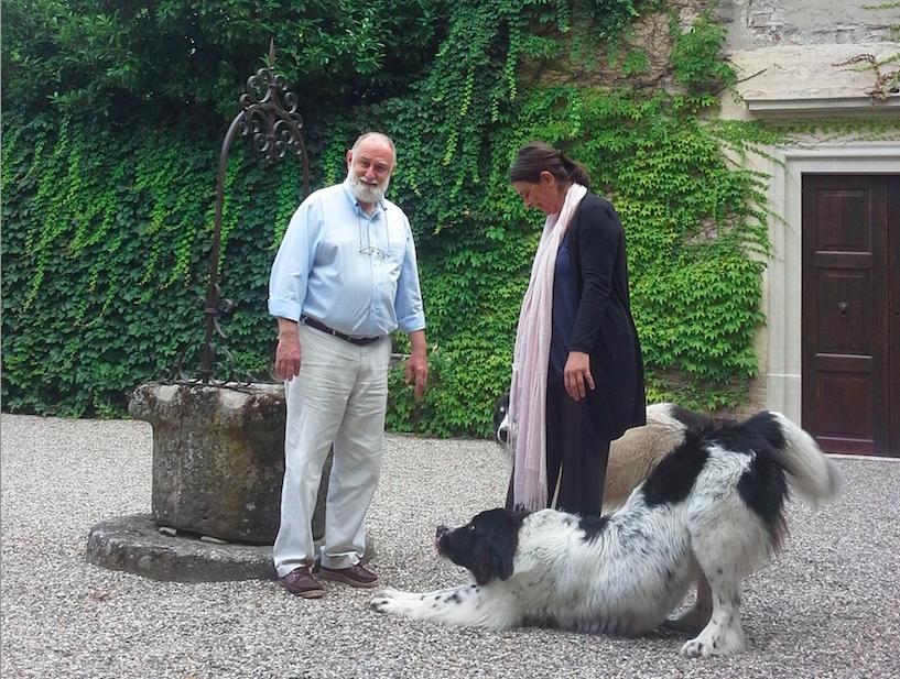Cristina e Pierluigi, proprietari del Castello di Paderna