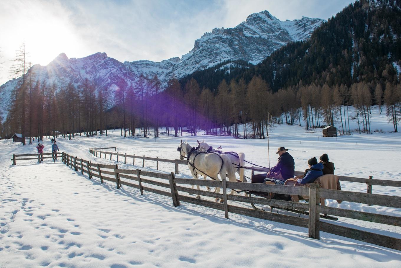 romantico giro in slitta in Alta Pusteria per San Valentino