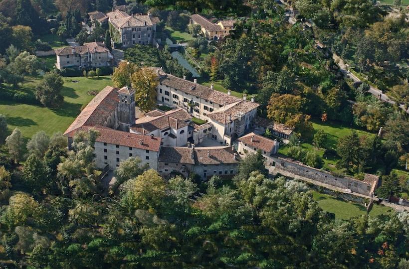 castelli di strassoldo dall'alto