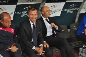 Bari Palermo seie B nella foto Roberto Alberti allenatore del Bari Foto Arcieri