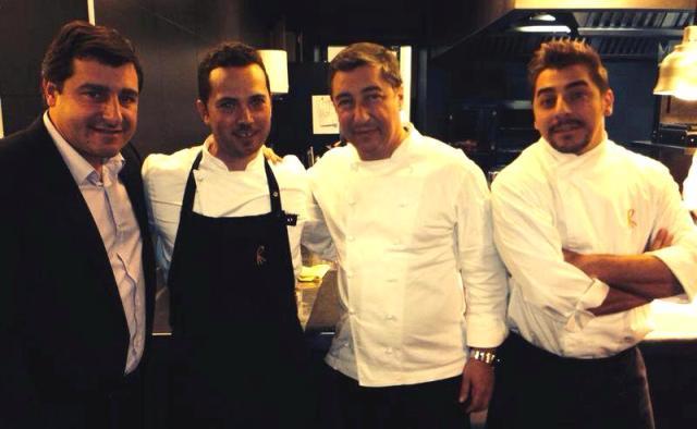 Da sinistra Josep Roca, Sebastiano Lombardi, Joan Roca e Jordi Roca
