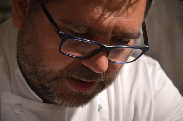 Angelo Sabatelli, chef patron del ristorante omonimo a Monopoli, Bari (ph di Danilo Giaffreda)