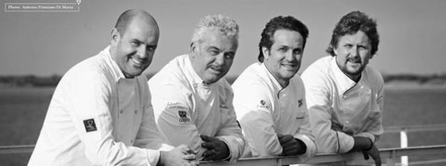 Da sinistra Leonardo Vescera, Gegè Mangano, Nazario Biscotti e Domenico Cilenti
