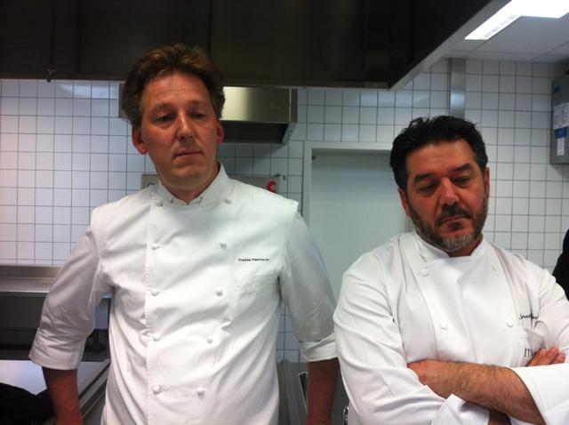 Il maitre chocolatier Pierre Marcolini e il patron dell'evento Renato Carati