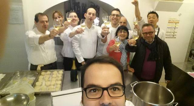 Brindisi alla stella ritrovata nelle cucine del ristorante Bacco di Barletta