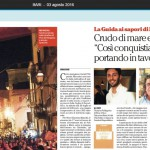 Repubblica Bari, 3 agosto 2016, pagina XV