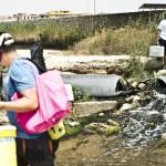 Sbocco del depuratore nel fiume Salso- Licata (AG)