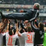 Il trionfo di Heynckes con il Bayern nel campionato scorso