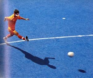 Il cinese Yafeng Wang nella partita contro la Gran Bretagna