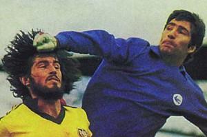 Hejazi nella partita contro l'Australia per la qualificazione ai Mondiali del '78