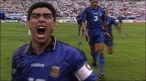 21 giugno 1994: l'ultimo gol di Maradona in un Mondiale