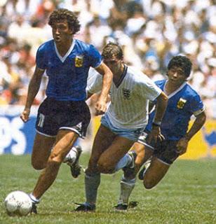 Valdano ai Mondiali del 1986 in Argentina-Inghilterra