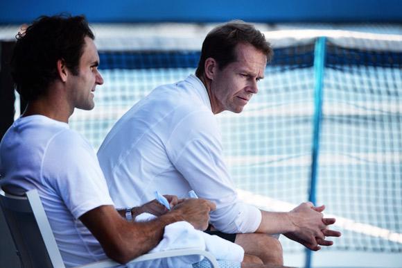 Federer con Edberg