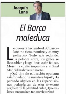 da La Vanguardia del 26 novembre scorso