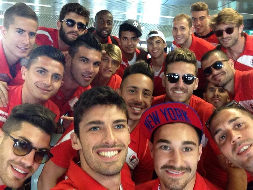 Il selfie il giorno dopo l'uscita dai playoff contro il Latina
