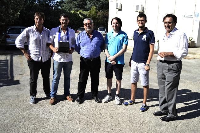 La squadra di Laserinn con gli startupper di Nextome