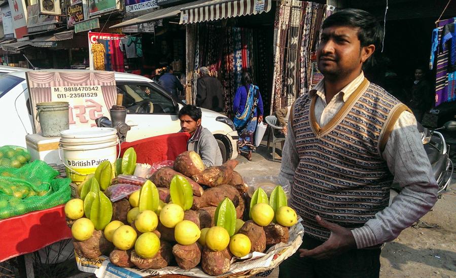 Venditore patate dolci