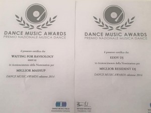 gli attestati del Dance Music Awards