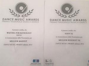 gli attestati del Dance Music Awards