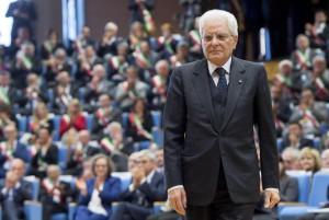 Udine - Il Presidente della Repubblica Sergio Mattarella poc