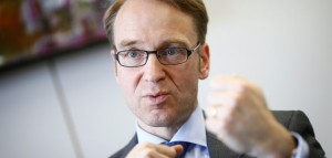 File picture of Weidmann, president of German Bundesbank, answering reporter's questions during an exclusive interview with Reuters at the Bundesbank headquarters in Frankfurt