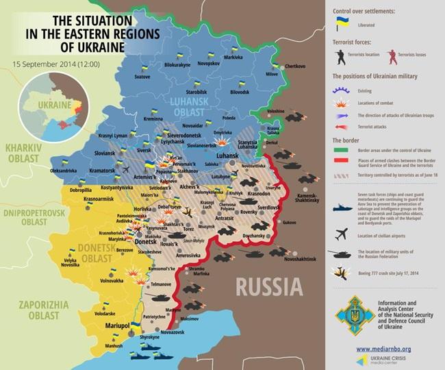 Guerra in Ucraina, situazione al 15/9 @uacrisis