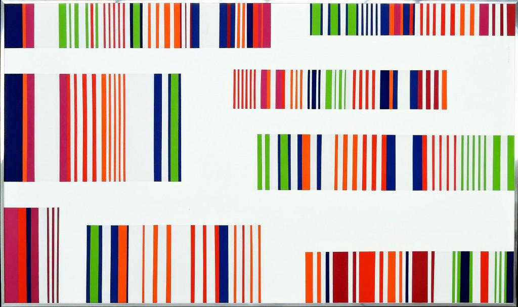 15. Ottavio Missoni, Senza Titolo, 1973, acrilico su tavola, 98X173 cm