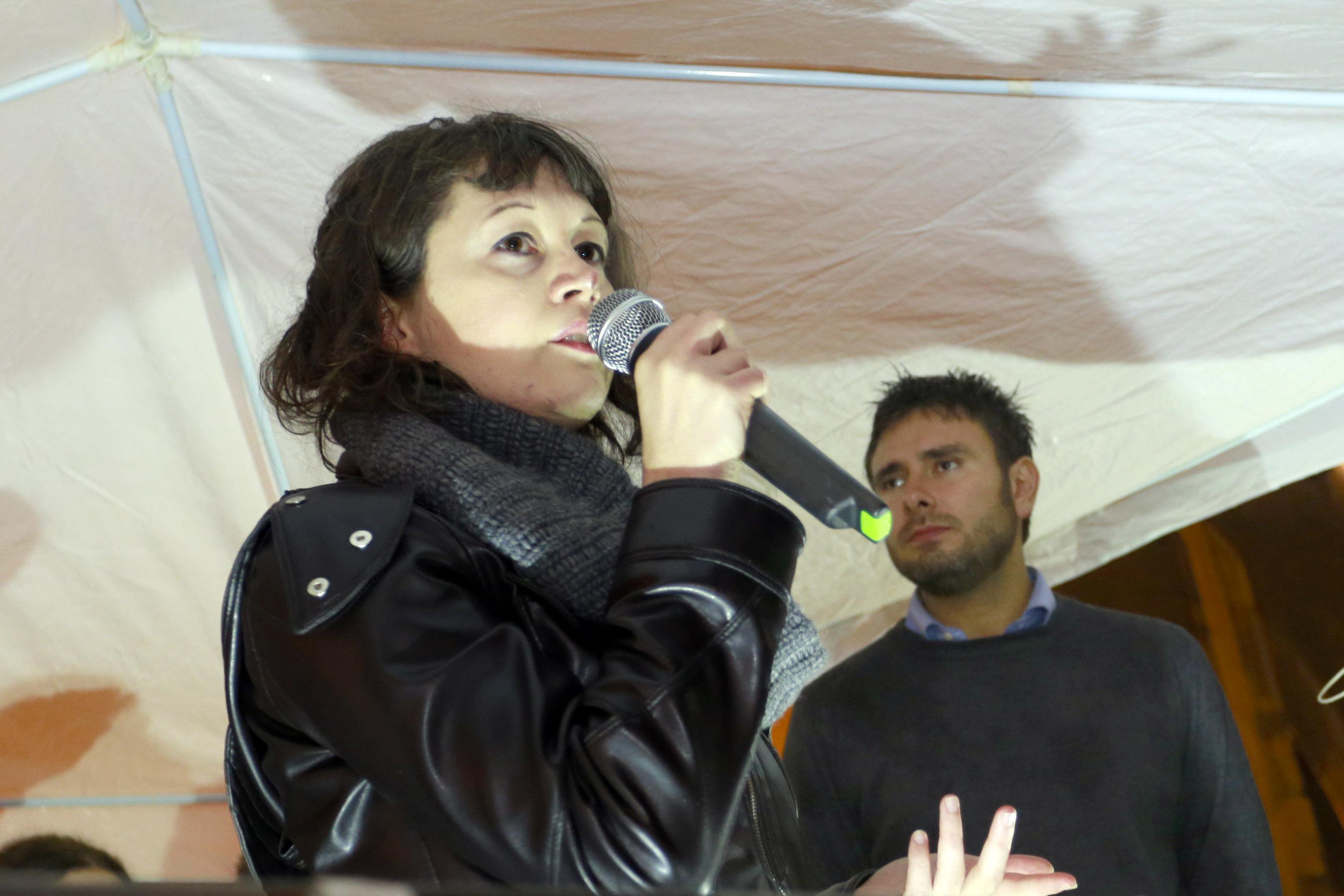 Luigi  Esposito - M5S in Piazza Grande comizio con Giulia Gibertoni e Alessandro di Battista