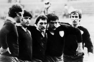 Da sinistra Boccaletto, Presutti, Monfeli, Piovan e Baraldi (1978)