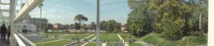 Il cantiere visto dalla terrazza dell'Orto